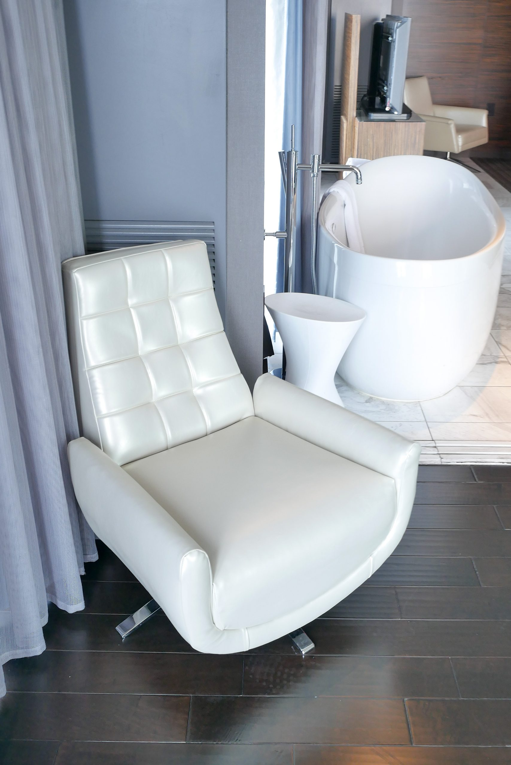 Pearl reupholstered Suite Chair