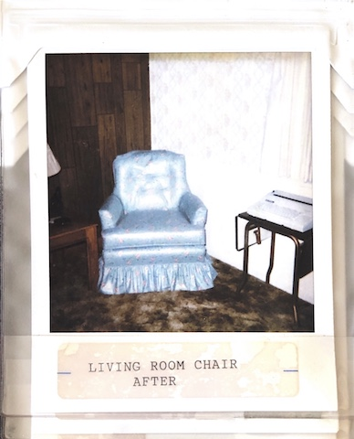 Old fashion Blue Chair Upholstered by Vegas Upholstery