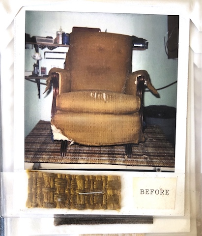 Old Chair Before/ Upholstered/ Vegas Upholstery