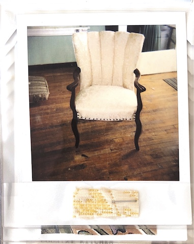Vintage Channel back chair upholstered by Vegas Upholstery