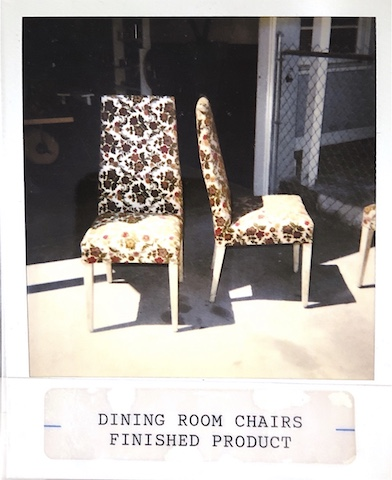 Set of reupholstered chairs done in 1993 at Vegas Upholstery
