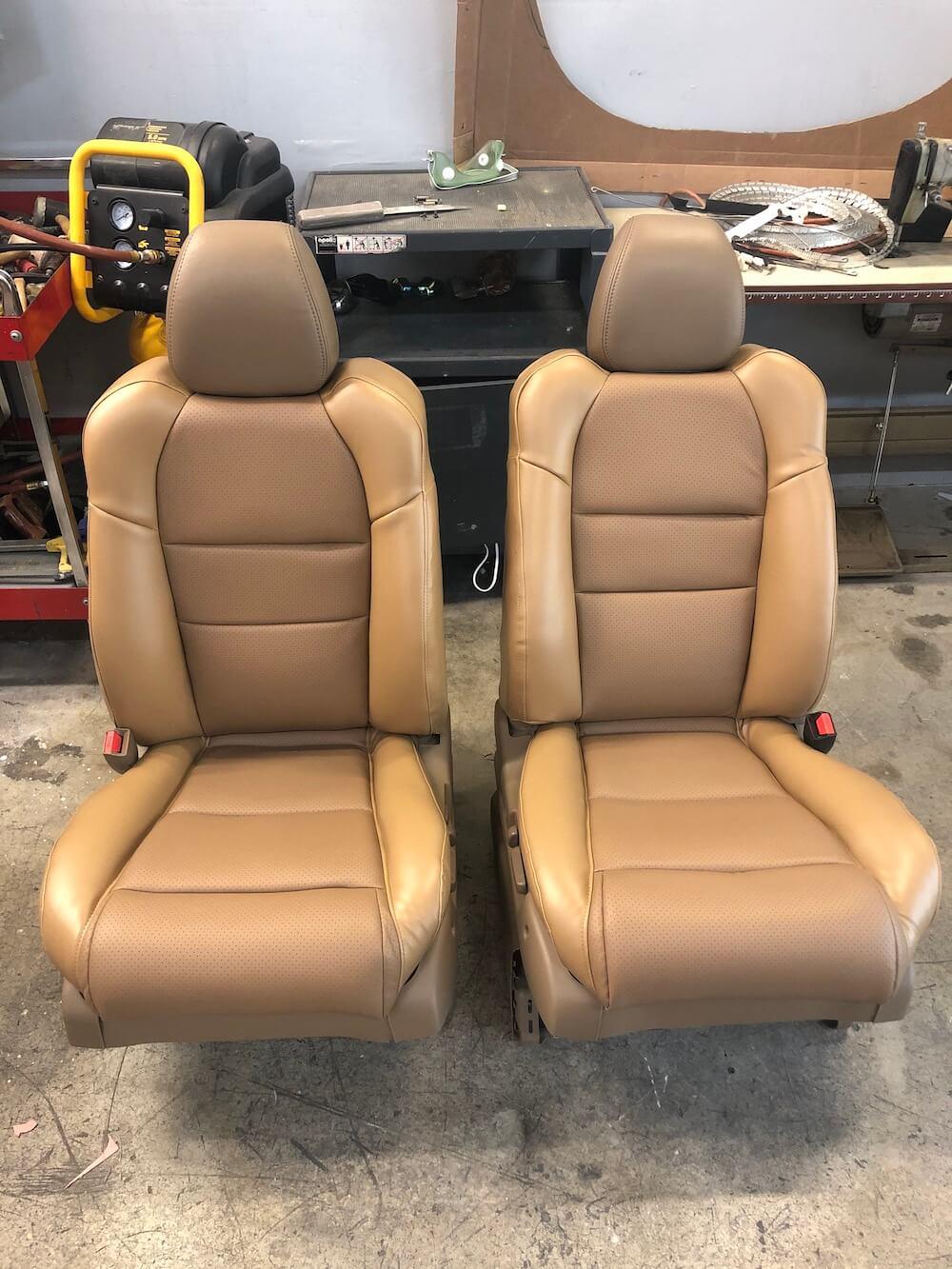 Reupholstered Car Seats