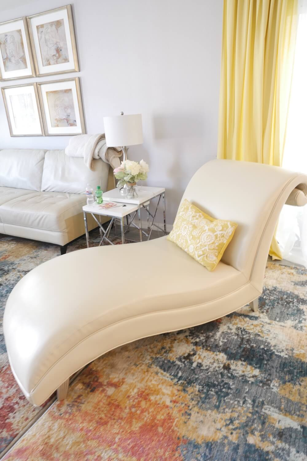 Reupholstered Chaise Lounge