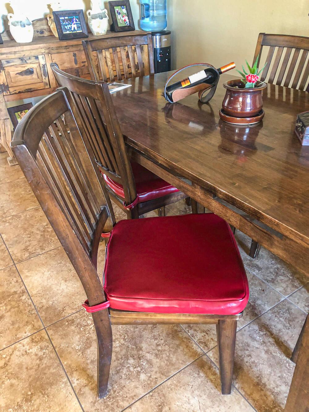 Custom dining table chair cushsion
