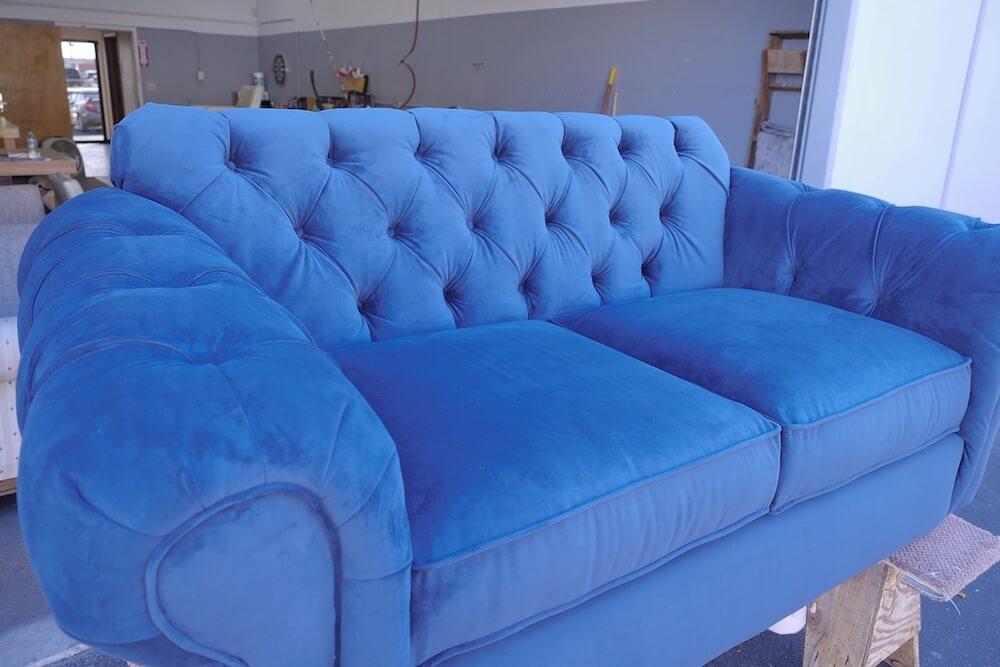 Velvet-tufted-couch