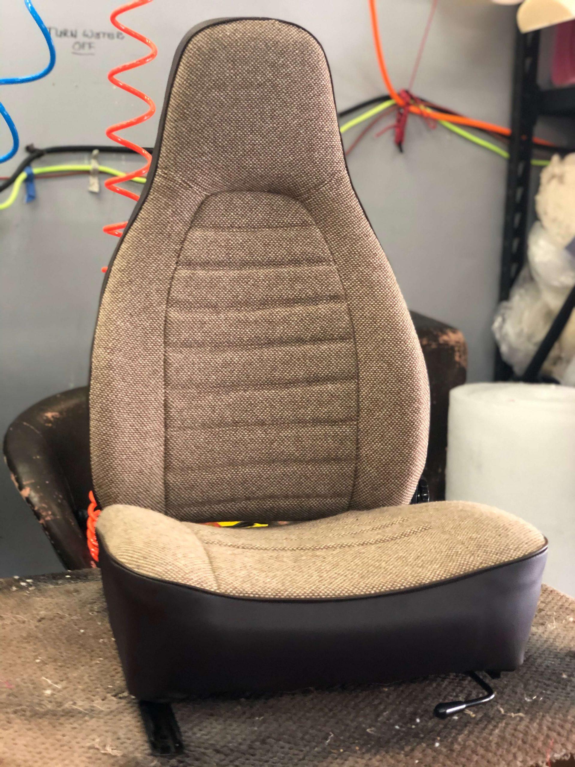 Reupholstered Porsche Seat