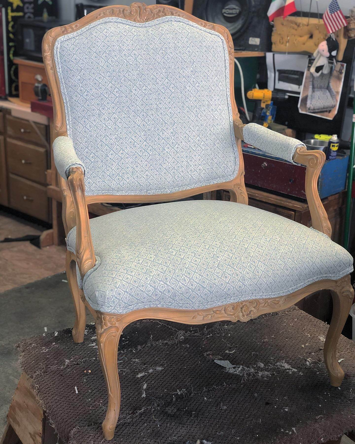 Vegas Upholstery Victorian Chair