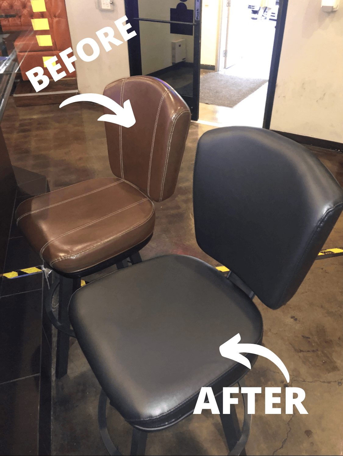 Vegas Upholstery Bar Chairs