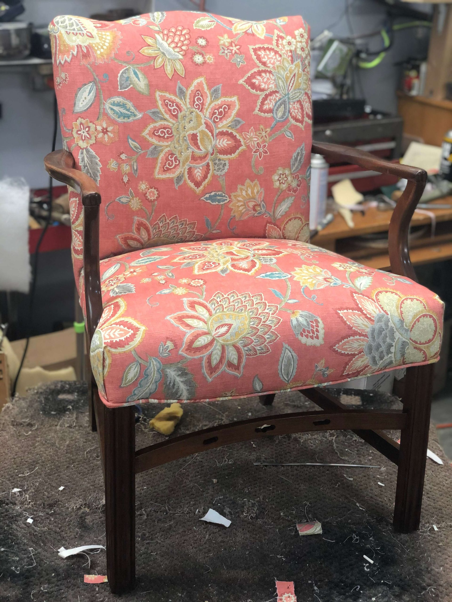 Vegas Upholstery Vintage Arm Chair Whimsical Design
